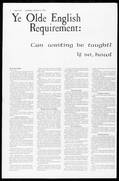 Daily Trojan, Vol. 65, No. 51, December 06, 1972