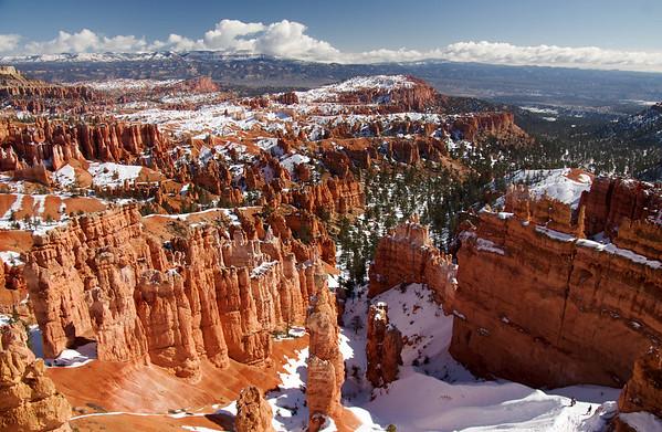 Hoodoos in the Snow.  Utah and Nevada, February 2017