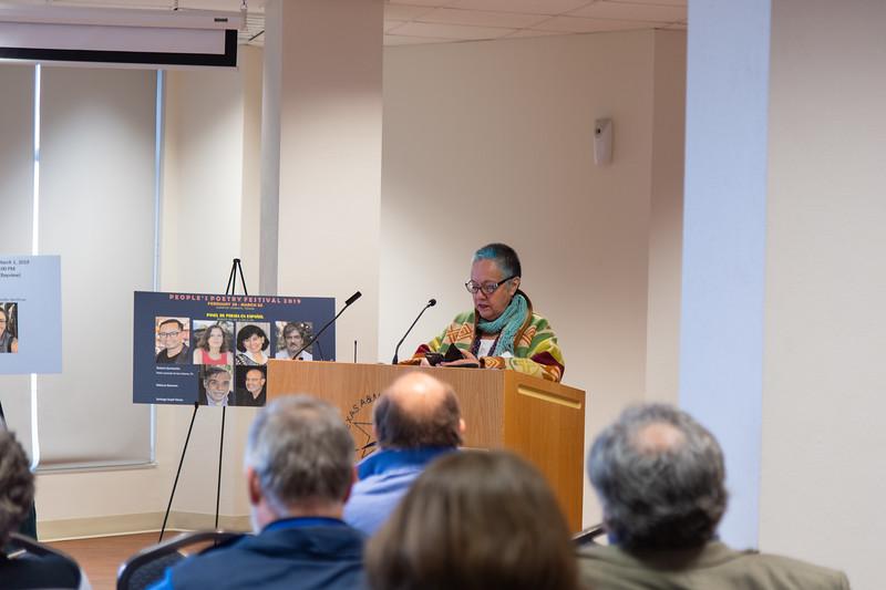 Odila Galvan Rodriguez reads her poetry.