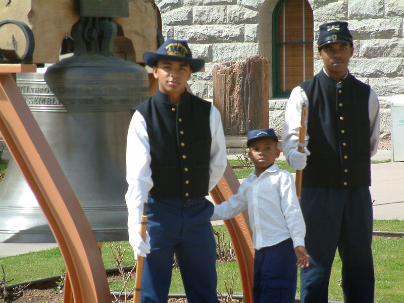 Young Buffalo Soldiers of the Buffalo Soldiers of the Arizona Territory, Mesa, AZ.  March 5, 2011