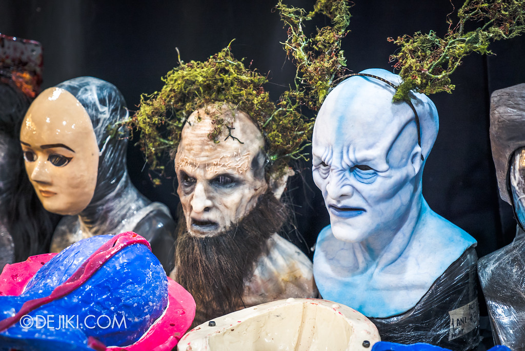 Halloween Horror Nights 7 Behind the Scenes: The Making of the Midnight Man, Iconic Character for HEX haunted house - Masks on display 2