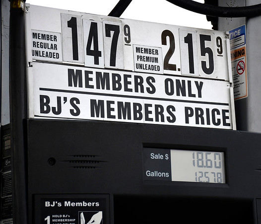 4/10/2020 Mike Orazzi | Staff Gas Prices in Southington on Friday.
