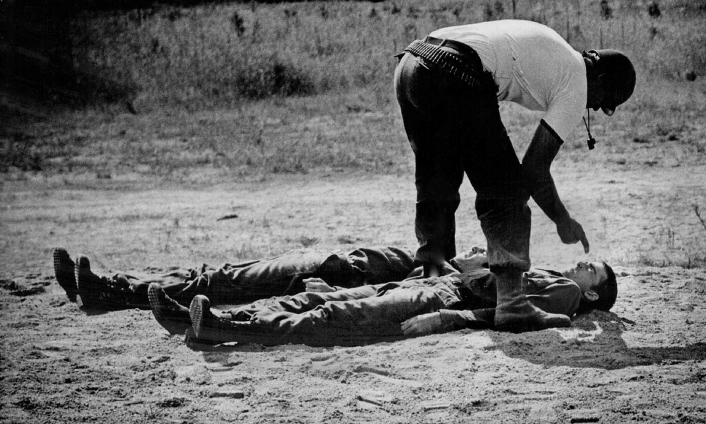 . A rigorous reprimand is given two fledgling cadets fresh from civilian life during basic cadet training session aimed at teaching them to function under pressure. After five weeks of assault-course work, they\'re expected  to be ready for the start of Air Force Academy schooling. 1973. The Denver Post Library Archive