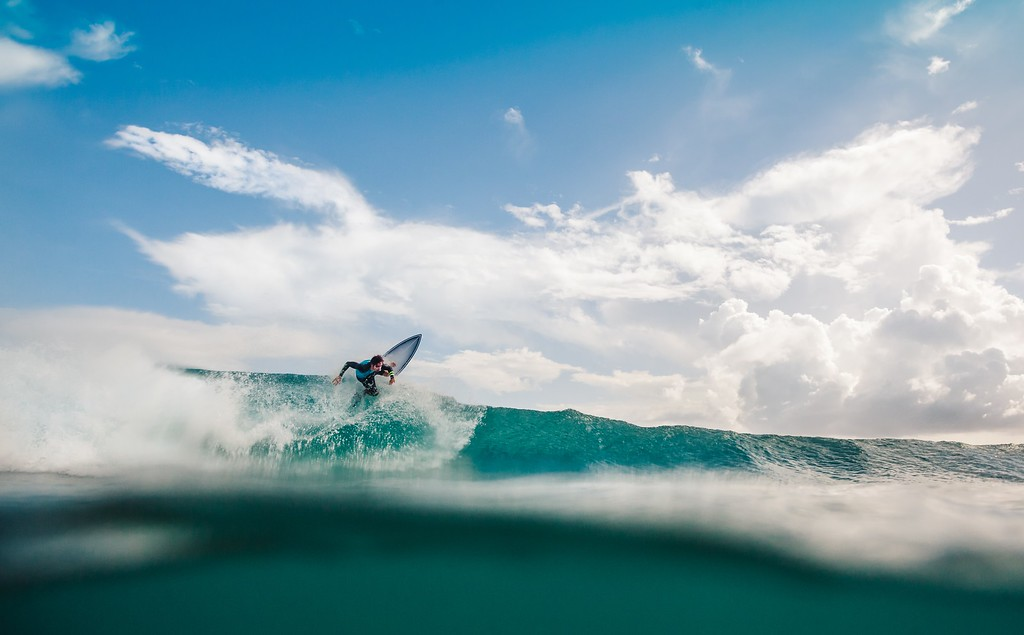 Surfing in Guadeloupe