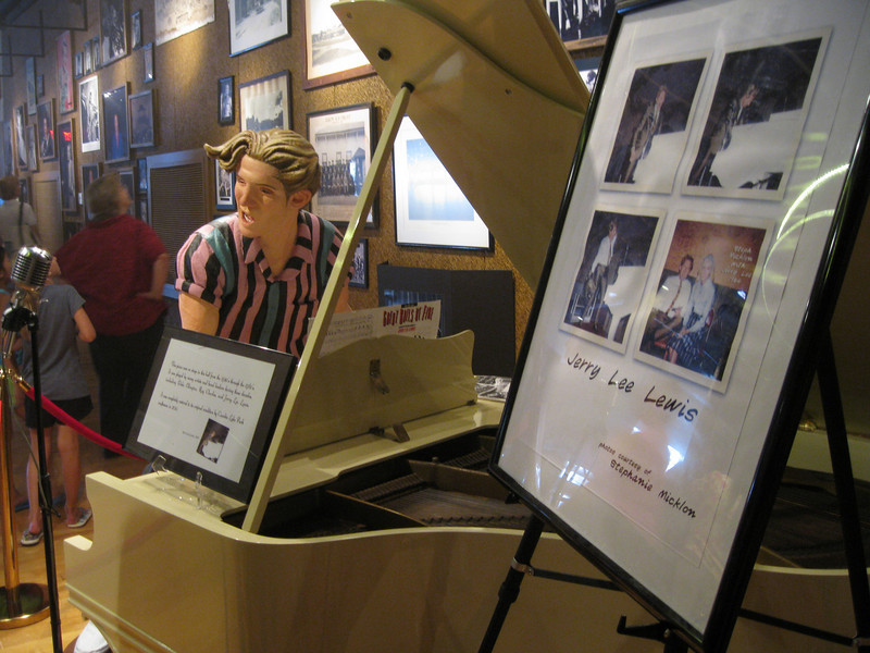 An original piano played by Jerry Lee Lewis.