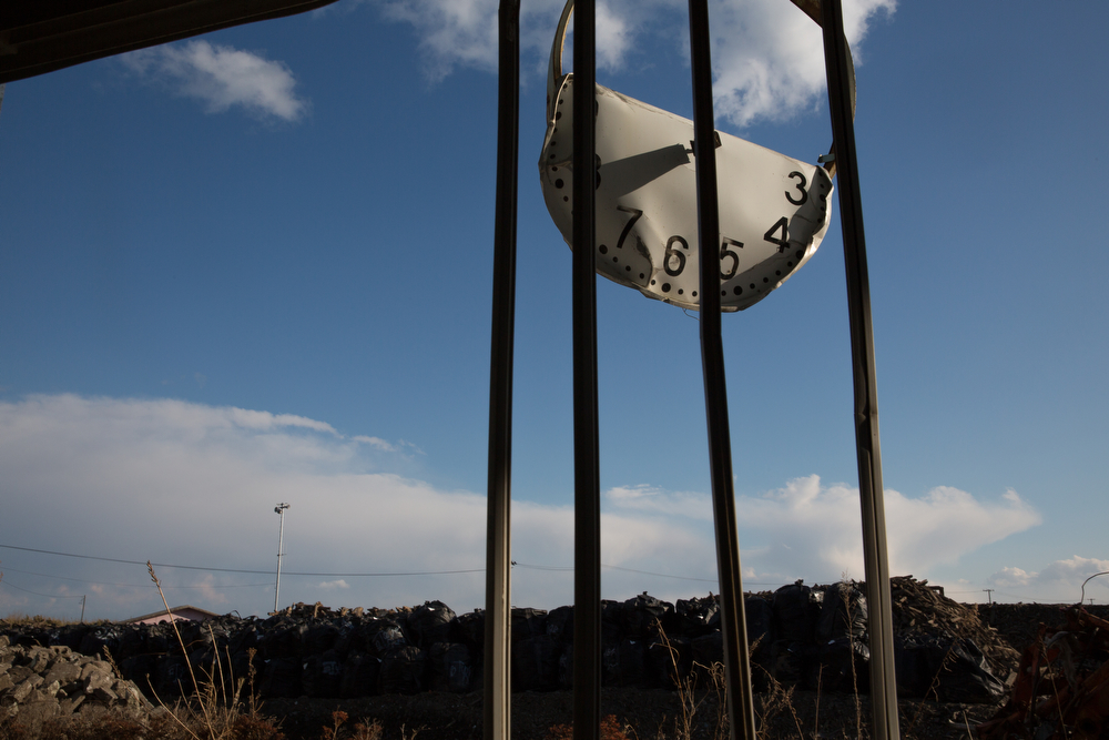 . A clock at the elementary school damaged by tsunami still remains in Ukedo town, located within 5km from Fukushima Daiichi nuclear power plant on March 10, 2014 in Fukushima, Japan. On March 11 Japan commemorates the third anniversary of the magnitude 9.0 earthquake and tsunami that claimed more than 18,000 lives, and subsequent nuclear disaster at the Fukushima Daiichi Nuclear Power Plant.  (Photo by Ken Ishii/Getty Images)