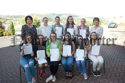 Principal Margo Cosgrove and VP Denise Crawley are pictured with the Top Acvhievers at St Mary's High School. R1535014