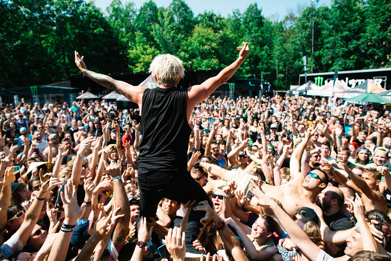 Telle Smith in Cuyahoga Falls, OH on Vans Warped Tour 2016