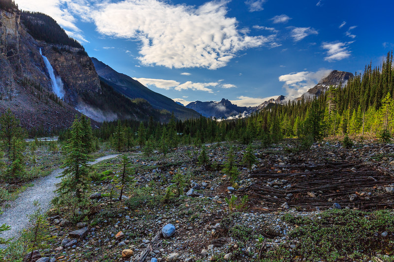 Takakkaw Falls To The Cathedrals