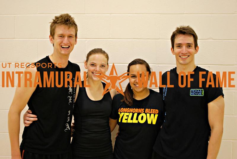 SPRING VOLLEYBALL Runner Up Super Cobras  Taylor Levos, Kaci Erwin, Marely Zamarron, Kurt Fellows