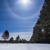 Moon Halo Over the Sawbill