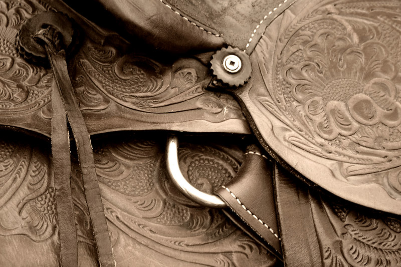 Saddle at the Calgary Stampede.