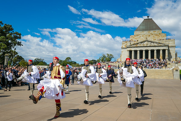 2018 Greek Presidential Guard in Melbourne Australia