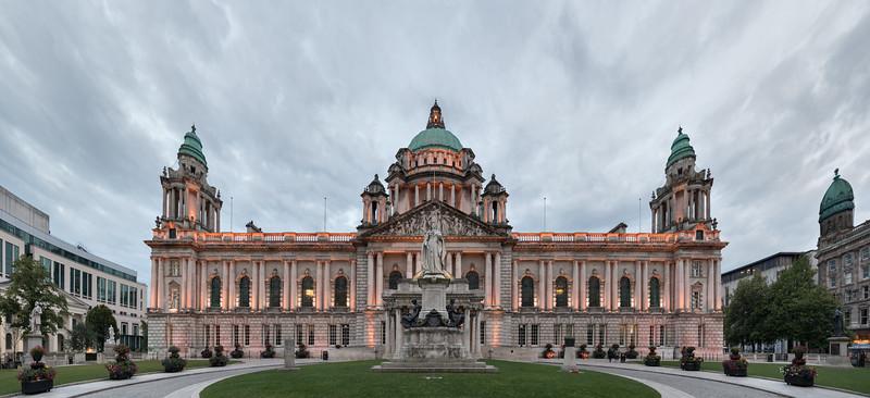 Belfast City Hall - Belfast, Northern Ireland, UK - August 13, 2017