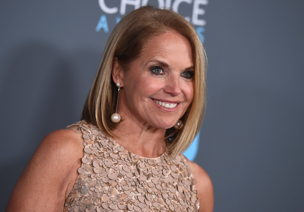 . Katie Couric poses in the press room at the 23rd annual Critics\' Choice Awards at the Barker Hangar on Thursday, Jan. 11, 2018, in Santa Monica, Calif. (Photo by Jordan Strauss/Invision/AP)