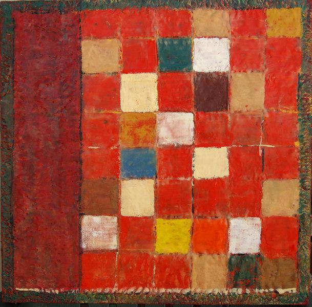 "2006 24""x 24"" encaustic on canvas"
