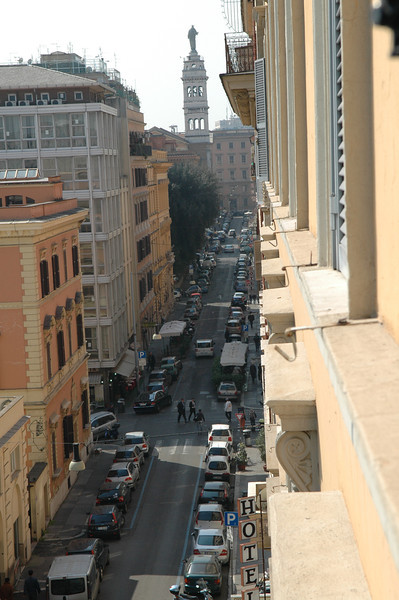 View from our hotel room in Rome.