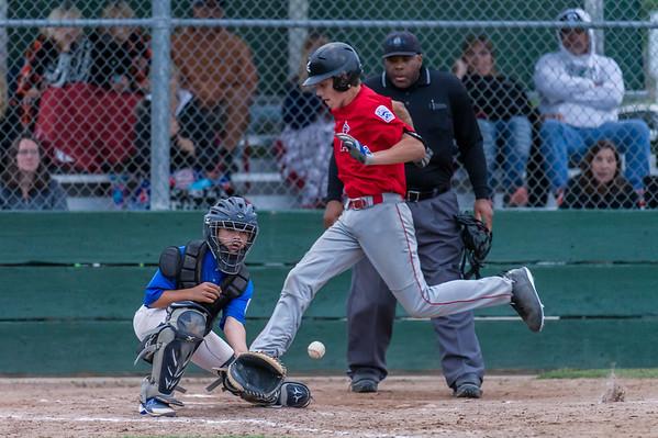 Roseville West Little League Jr. Angels vs Dodgers 5-6-16