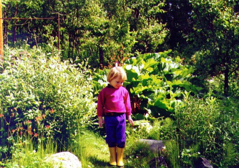 Alina in the Garden, July 1995, .jpg