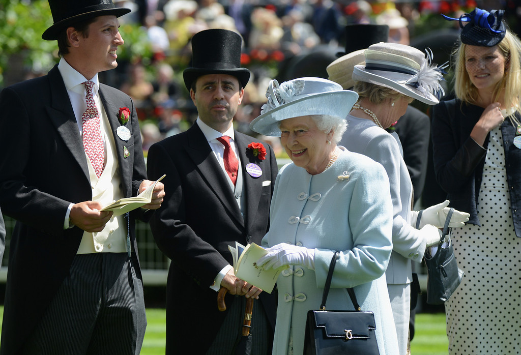. Queen Elizabeth II attends day one of Royal Ascot at Ascot Racecourse on June 17, 2014 in Ascot, England.  (Photo by Kirstin Sinclair/Getty Images for Ascot Racecourse)