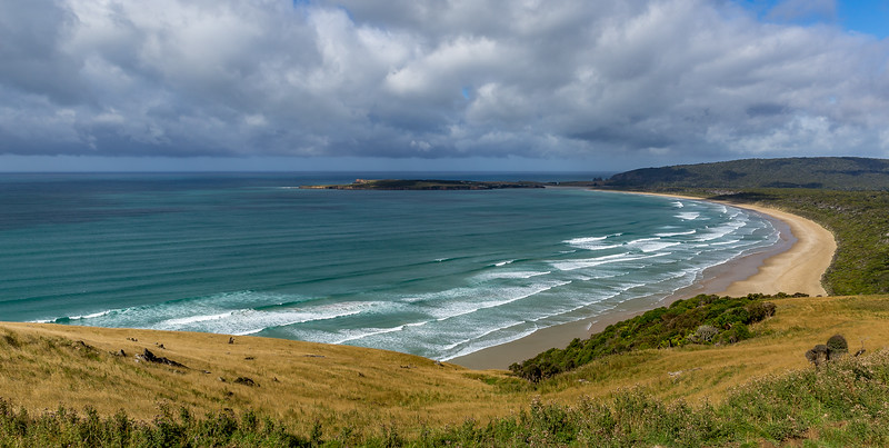 «Tautuku Bay» vom «Florence Hill Lookout»