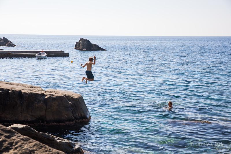 Swimming in Corniglia...Simply Magical.... Cinque Terre, Italy -  October 2017