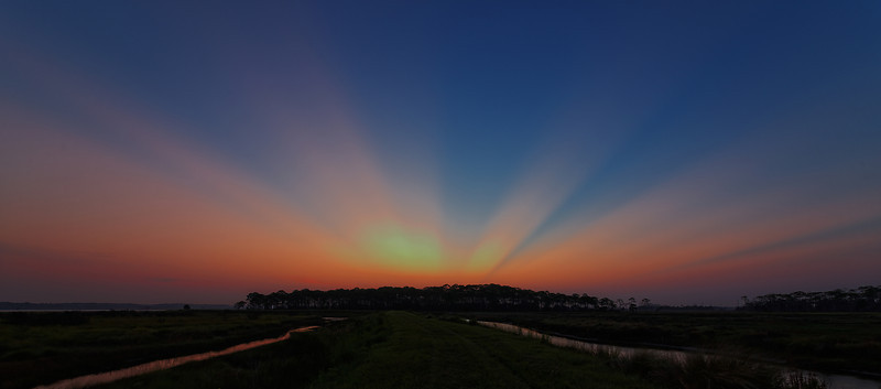First Rays - Split the sky over the levees