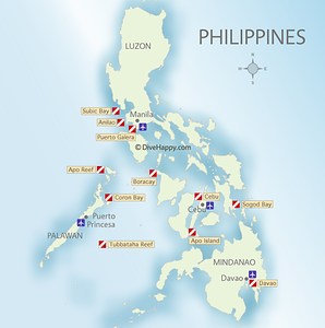 Philippines Diving Maps