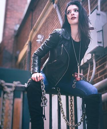 Kaytee winter fashion, model portfolio shoot walk about, by Boise Photographer Mike Reid.