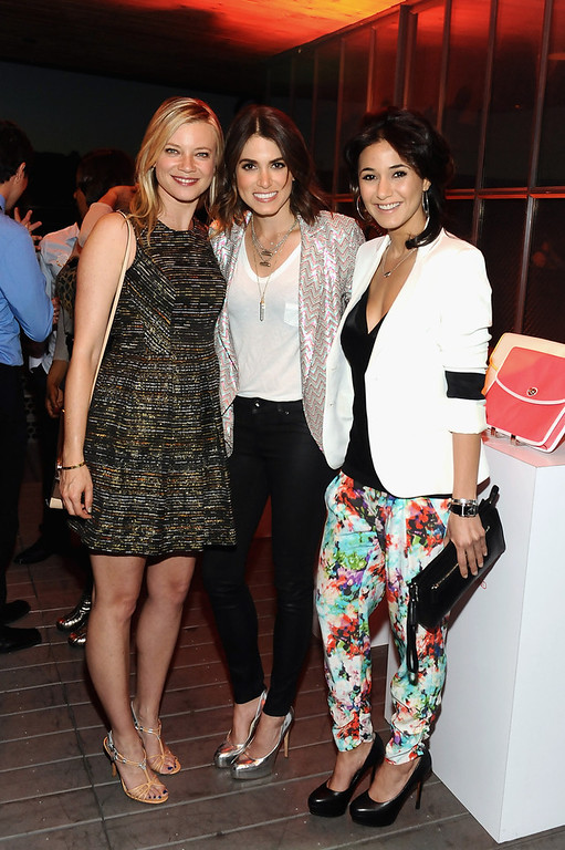 . Actresses Amy Smart, Nikki Reed and Emmanuelle Chriqui attends Coach\'s 3rd Annual Evening of Cocktails and Shopping to Benefit the Children\'s Defense Fund hosted by Katie McGrath, J.J. Abrams and Bryan Burk at Bad Robot on April 10, 2013 in Santa Monica, California.  (Photo by Stefanie Keenan/Getty Images for Coach)