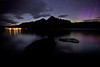 """Skies Ablaze"" IX, Lake Minnewanka, Banff National Park, Alberta, Canada."