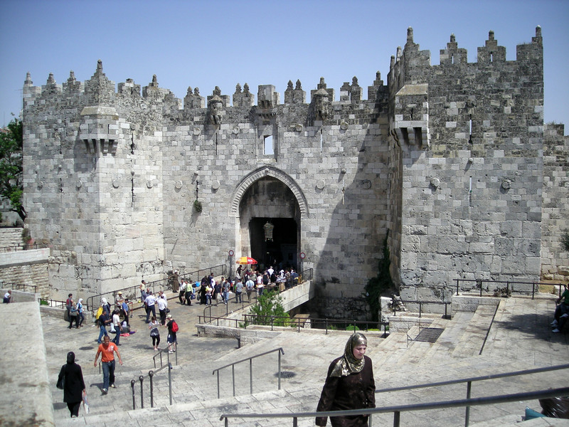 The Damascus Gate into the old city from East Jerusalem.