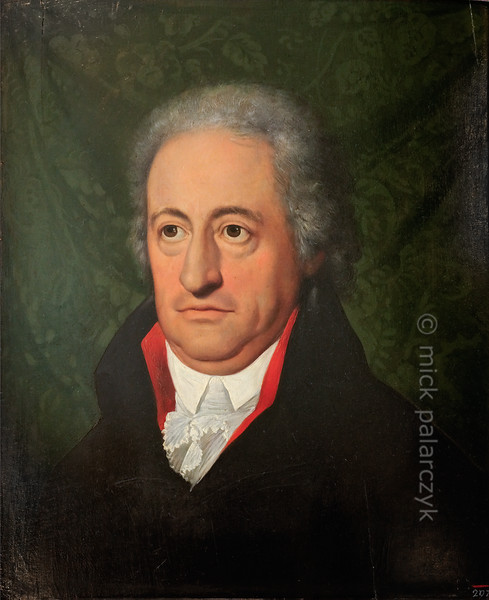 Portrait of Goethe in Anna-Amalia Library in Weimar.