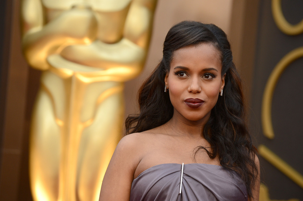 . Kerry Washington arrives at the Oscars on Sunday, March 2, 2014, at the Dolby Theatre in Los Angeles. (Photo by Jordan Strauss/Invision/AP)