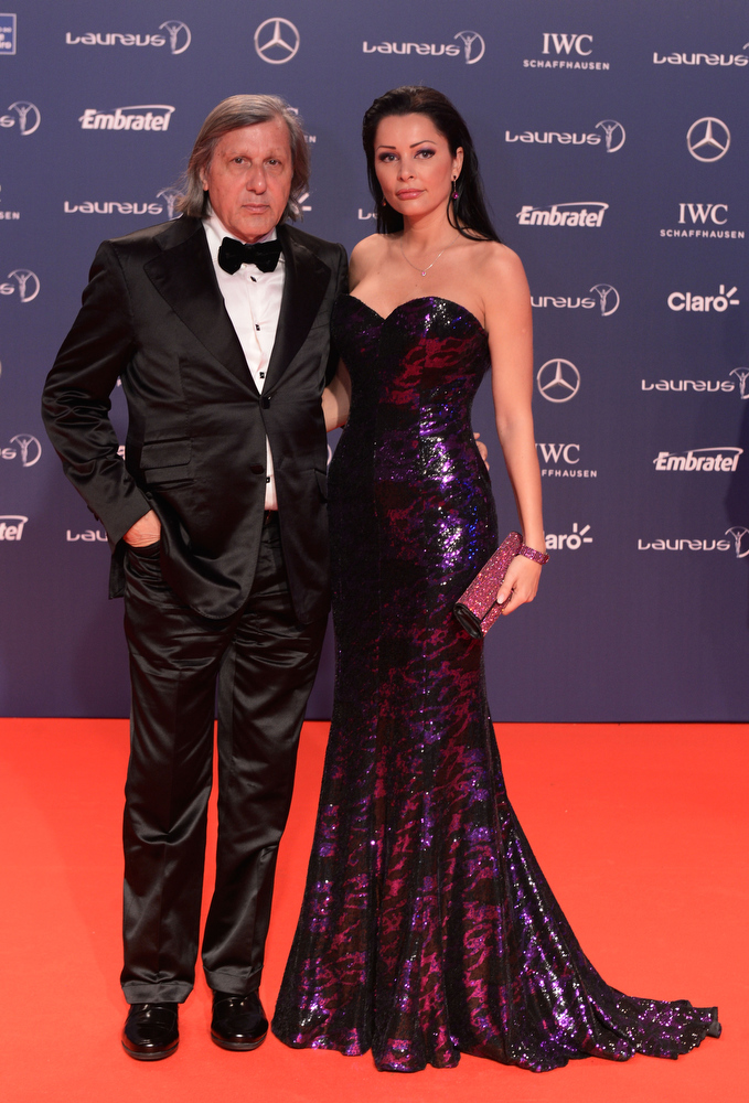 . Laureus Academy Member Ilie Nastase and guest attends the 2013 Laureus World Sports Awards at the Theatro Municipal Do Rio de Janeiro on March 11, 2013 in Rio de Janeiro, Brazil.  (Photo by Buda Mendes/Getty Images For Laureus)