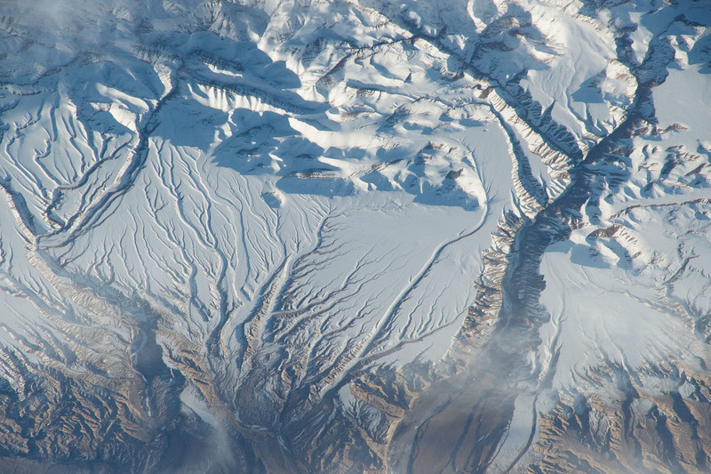 #Himalayas. What icy veins you have. #YearInSpace