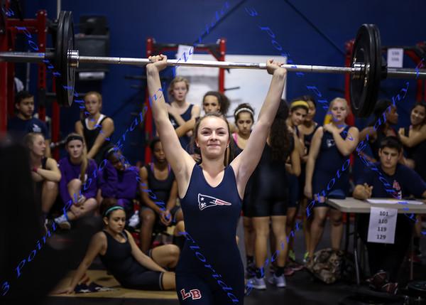 LBHS Girls Weightlifting vs Winter Springs - Dec 10, 2014