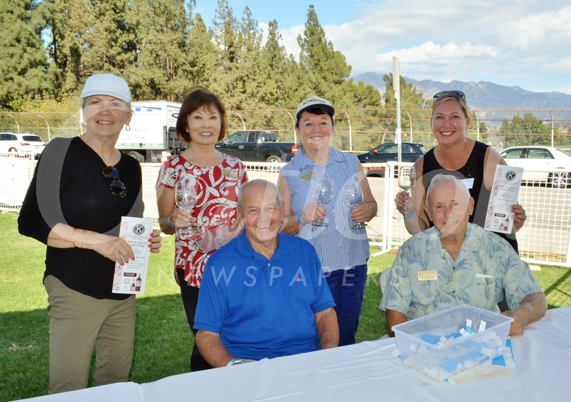 Joe Thomson (seated, from left) and Richard Grippi. Back: Barbie Eland, Sookie Mathews, Pat Anderson and Nancy Rappard.