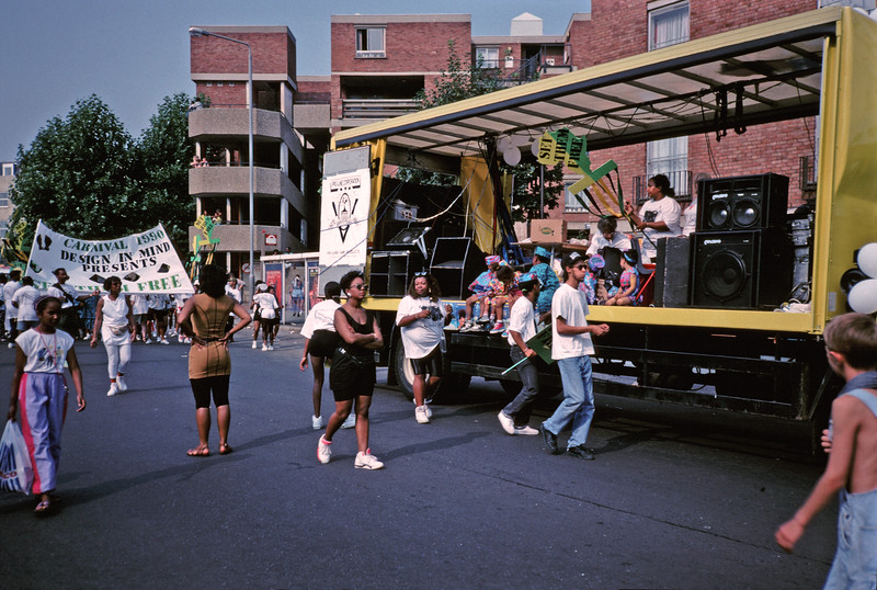 NOTTING HILL CARNIVAL FLOAT. 1990