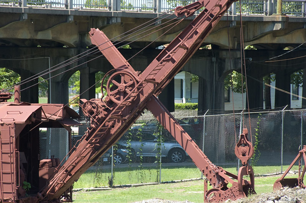 One of the old steam shovels used at the furnace