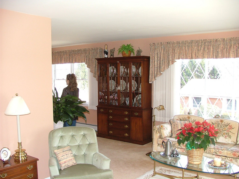 China cabinet between LR and DR windows