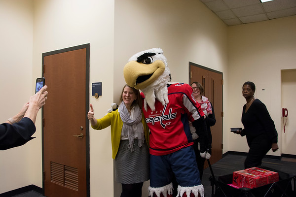 2/13: Washington Capitals Mascot