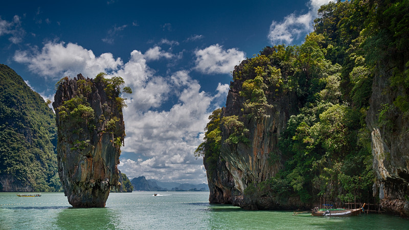 "The legendary limestone rock called Ko Tapu that found fame through the 1974 Bond film ""The Man with the Golden Gun""."