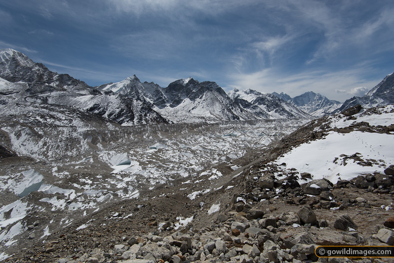Khumbu glacier, looking back towards Lobuje