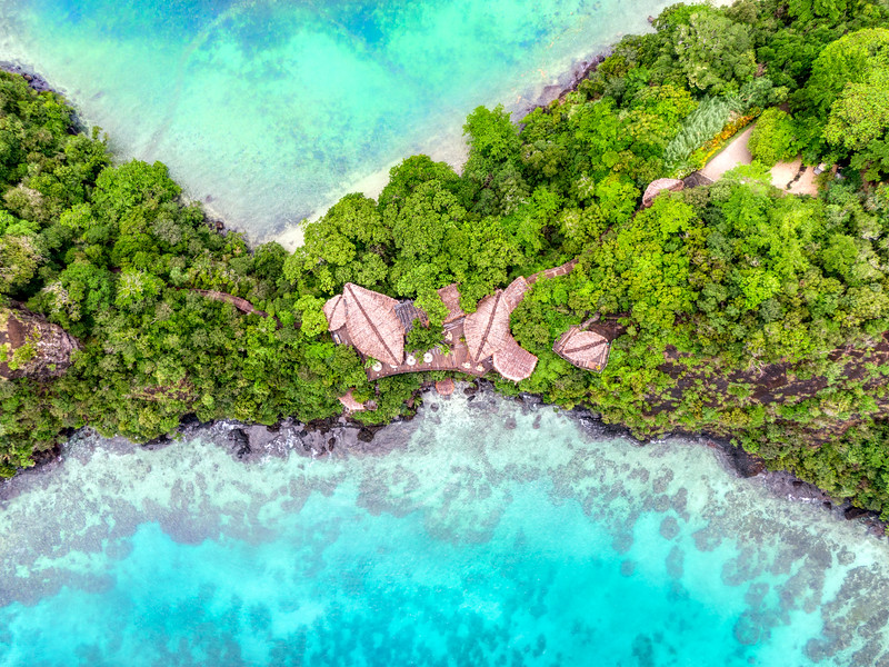 High Above Laucala Island