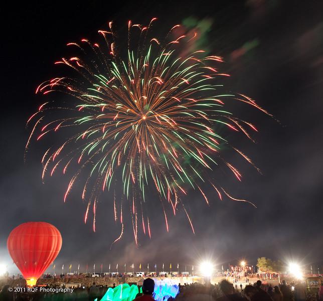 Fireworks.   Albuquerque International Balloon Fiesta