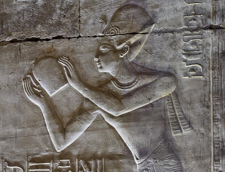 "[Egypt 29862] 'Seti with ""nemset"" vessel at Abydos.'"