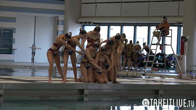 E13 Free Combination Finals Competition 2015 U.S. Open Synchronized Swimming Championships - Takeitlive.tv Livesynchro Channel