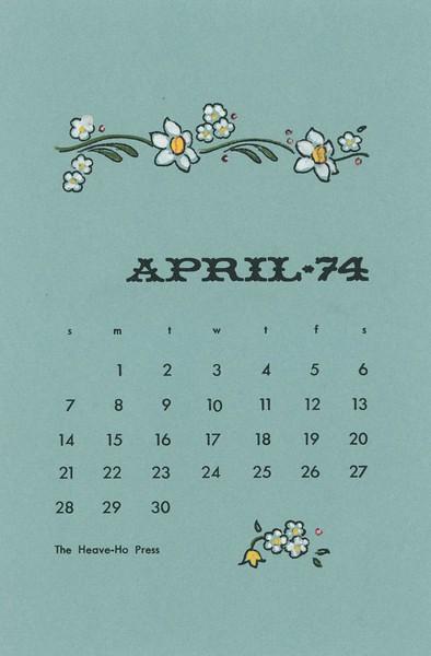 April, 1974, Heave-Ho Press