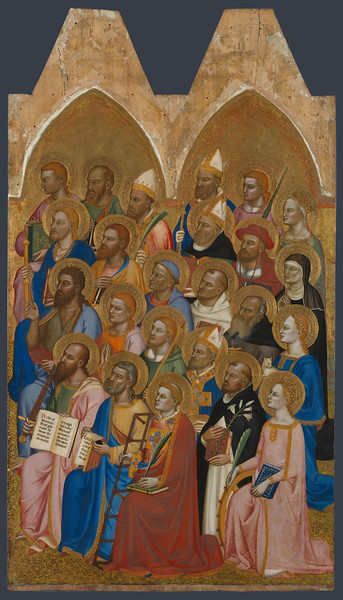 Adoring Saints: Right Main Tier Panel